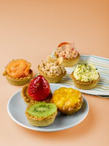 office lunch idea: sweet and savoury sharing platters