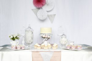Baby's Full Month Dessert Table: Homebakee