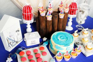 kid's birthday party dessert table